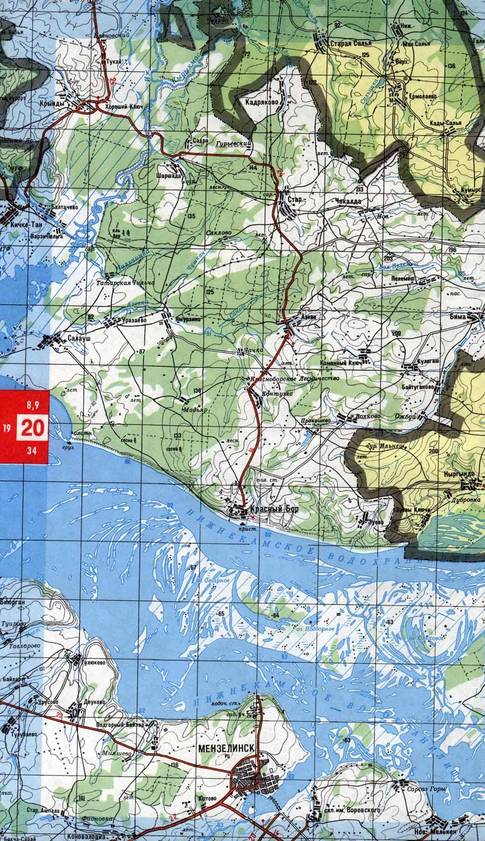 карты рыболова татарстан